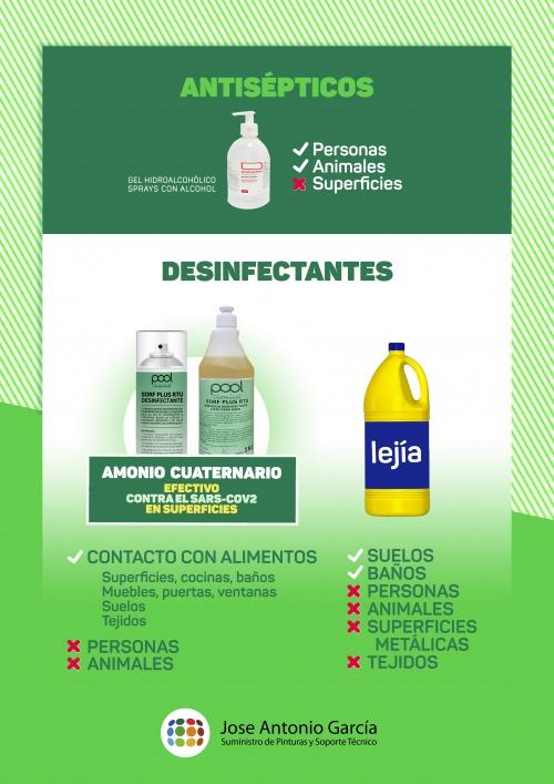 Antisépticos y desinfectantes JAG | Covid-19